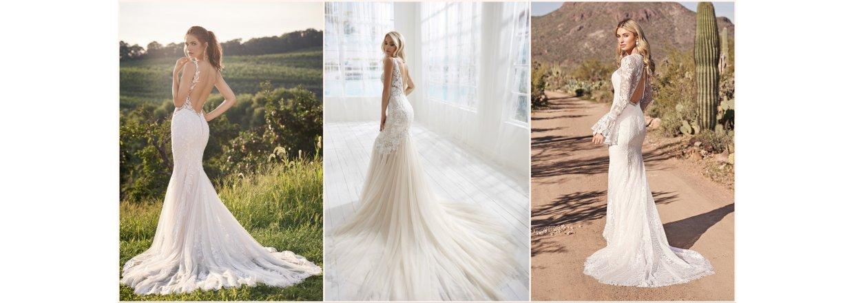 Bar ryg i brudekjolen